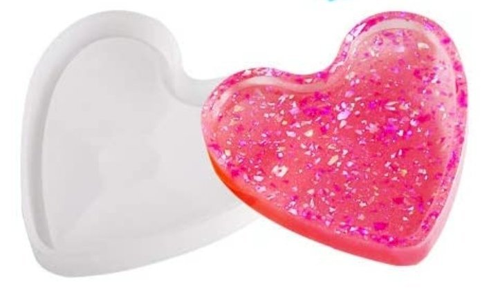 Heart Coaster Mold with edge