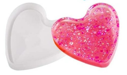 Heart Coaster Mold with edge