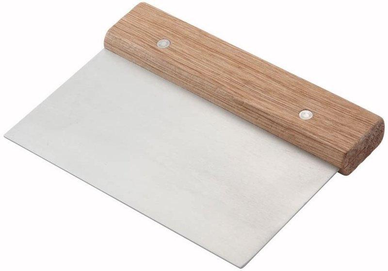 كاشطة ستنلس ستيل بمقبض خشبي