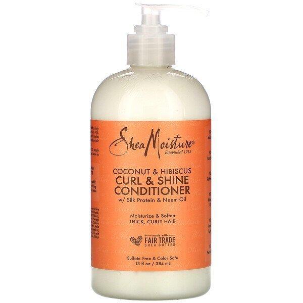 Shea moisture, Curl & Shine Conditioner, Coconut & Hibiscus 384 ml