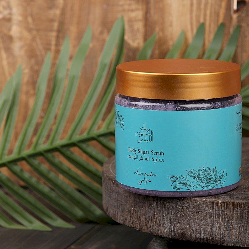 Bayt alsaboun alloubnani-Lavender Body Sugar Scrub 500g