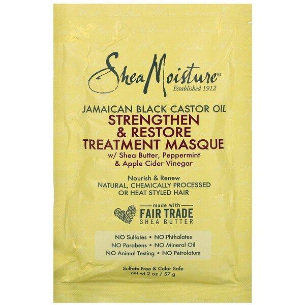 Shea Moisture, Jamaican Black Castor Oil, Strengthen & Restore Treatment Hair masque 57g,