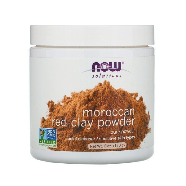 Now solution-Solutions, Moroccan Red Clay Powder(170 g)