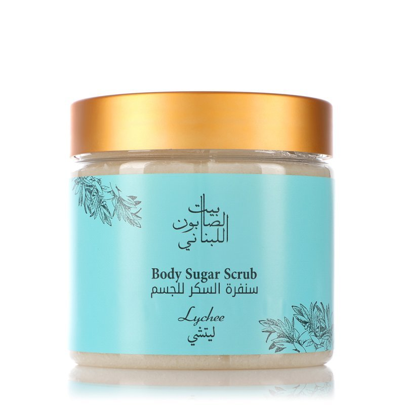 Bayt alsaboun alloubnani- Lychee Body Sugar Scrub 500g