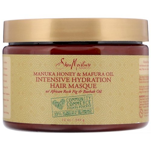 Shea moisture, Intensive Hydration Hair Masque, Manuka Honey & Mafura Oil 340 g