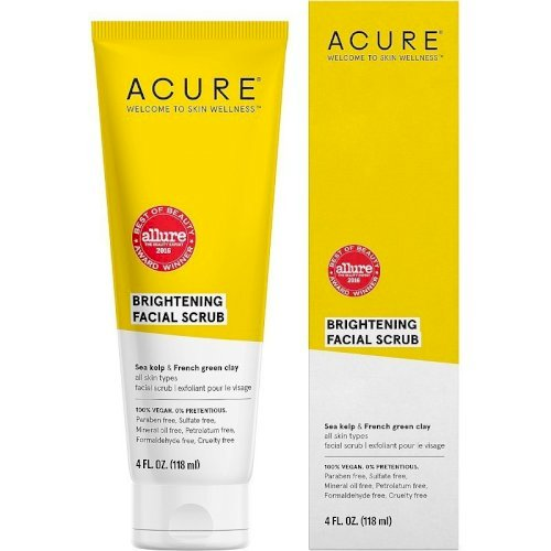 "acure -brightening facial scrub ""118ml"""