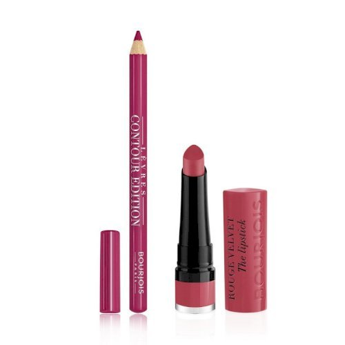 Bourjois lets kiss in paris matte lipstick#3+lip liner#3