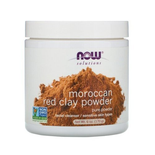 Now foods, Solutions, Moroccan Red Clay Powder(170 g)