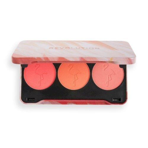 Revolution Flamingo Mini Trio blush Palette Oh My Blush