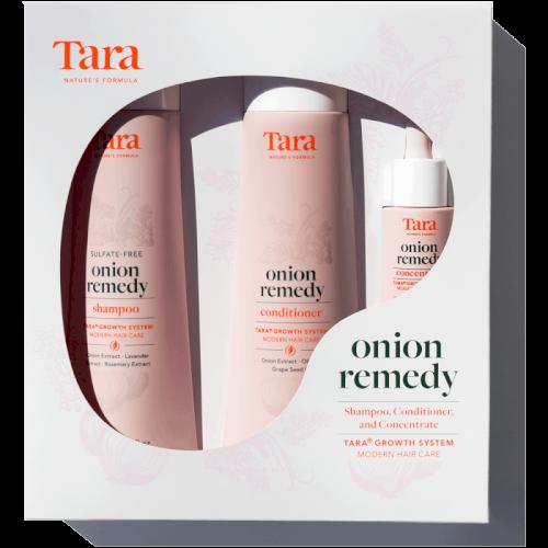 Tara-onion remedy system for hair