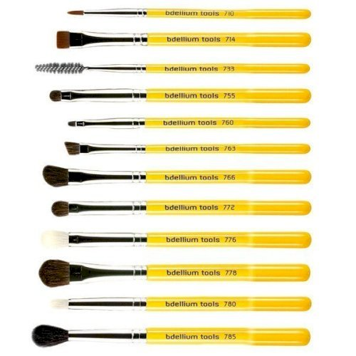 Bdellium tools -studio line Brush Set of 12pc.with Roll-up Pouch