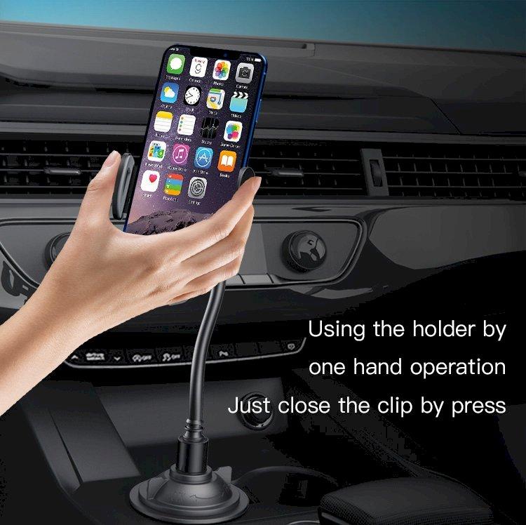 يسيدو C112 حامل الهاتف يركب في كوب السيارة وفتحة المكيف-أسود