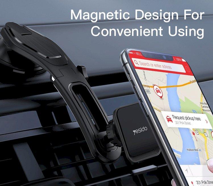 يسيدو C107 حامل هاتف مغناطيسي للسيارة 540 درجة قابل للطي