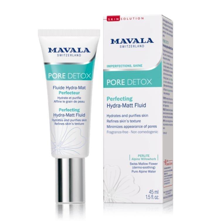 PORE DETOX   Perfecting   Hydra-Matt Fluid,  Purify your skin with Alpine freshness