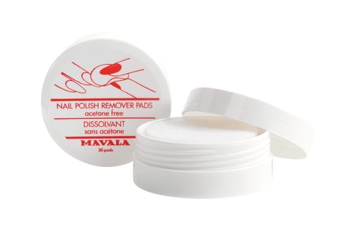 Nail Polish Remover Pads,  Acetone-free.