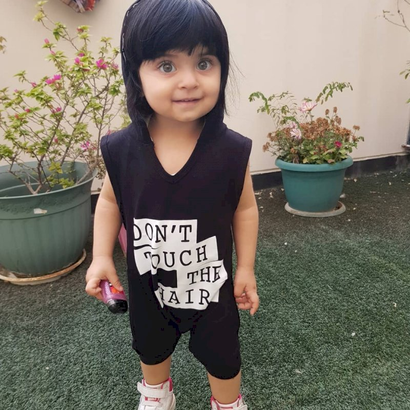 Don't touch my hair Romper